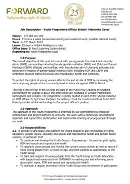 Job Description - Youth Programme Officer Bristol