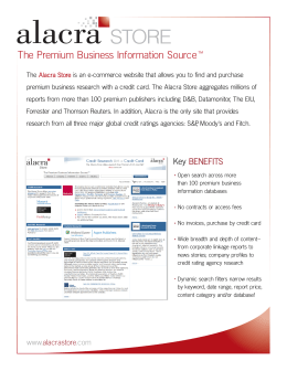 The Premium Business Information Source