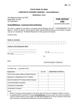 Corporate Registration Form