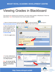 Viewing Grades in Blackboard