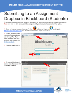 Submitting to an Assignment Dropbox in Blackboard (Students)