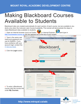 Making Blackboard Courses Available to Students