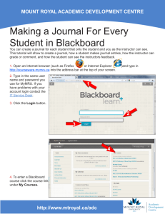 Making a Journal For Every Student in Blackboard