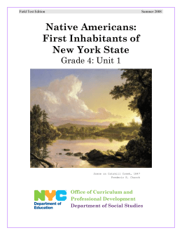 Native Americans: First Inhabitants of New York State