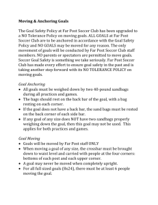 Moving Goals Policy - Far Post Soccer Club
