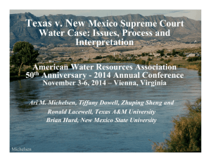 Texas v. New Mexico Supreme Court Water Case
