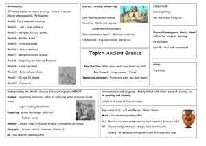 Topic= Ancient Greece - Weston Hills C of E Primary School