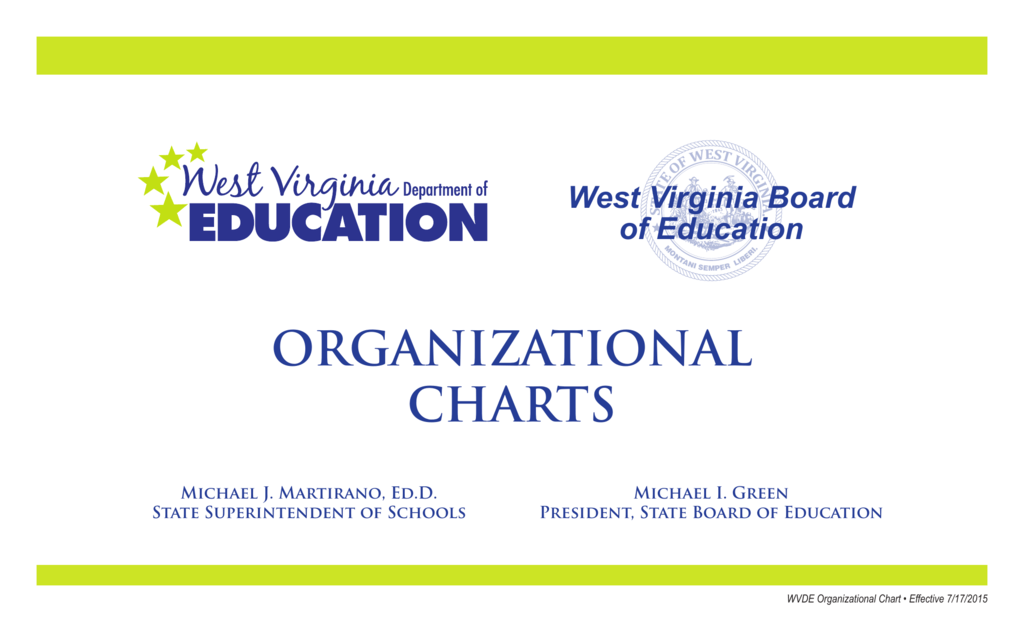 Organizational Charts West Virginia Department Of Education