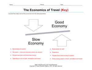 Graphic organizer - The Economics of Travel (Key)