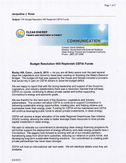 CEFIA Press Release - REEBA | Renewable Energy and Efficiency