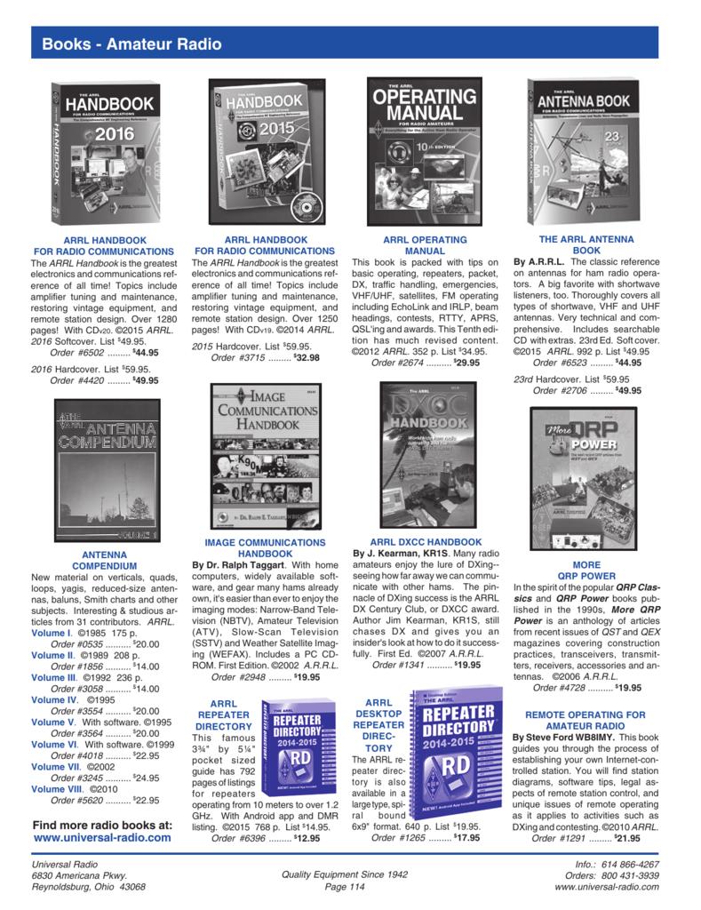 Books - Amateur Radio - Universal Radio, Inc
