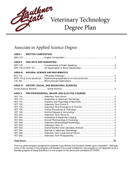 Veterinary Technology Degree Plan