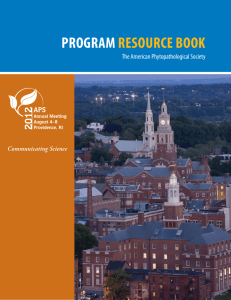 program resource book - American Phytopathological Society
