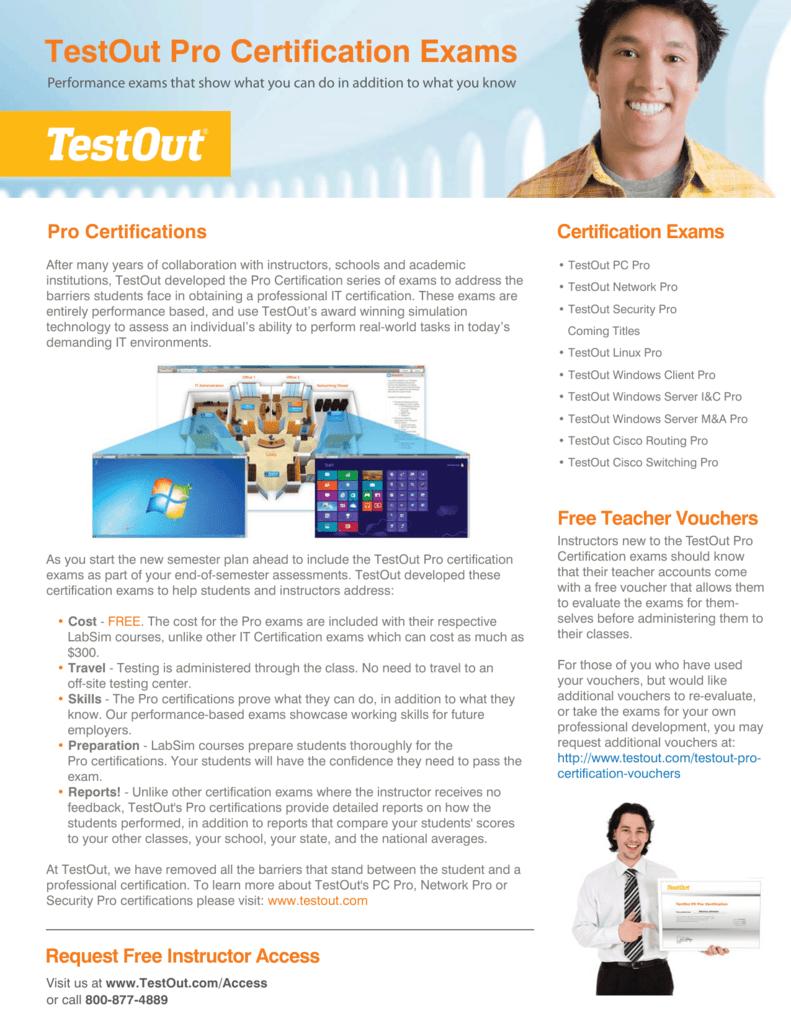 testout pro certifications