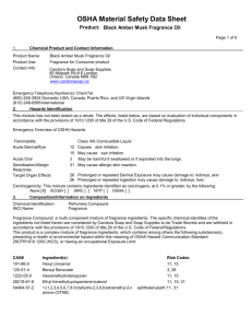 OSHA Material Safety Data Sheet