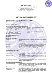 MSDS - The Soap Kitchen