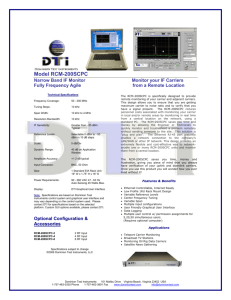 Model RCM-200SCPC - Dominion Test Instruments