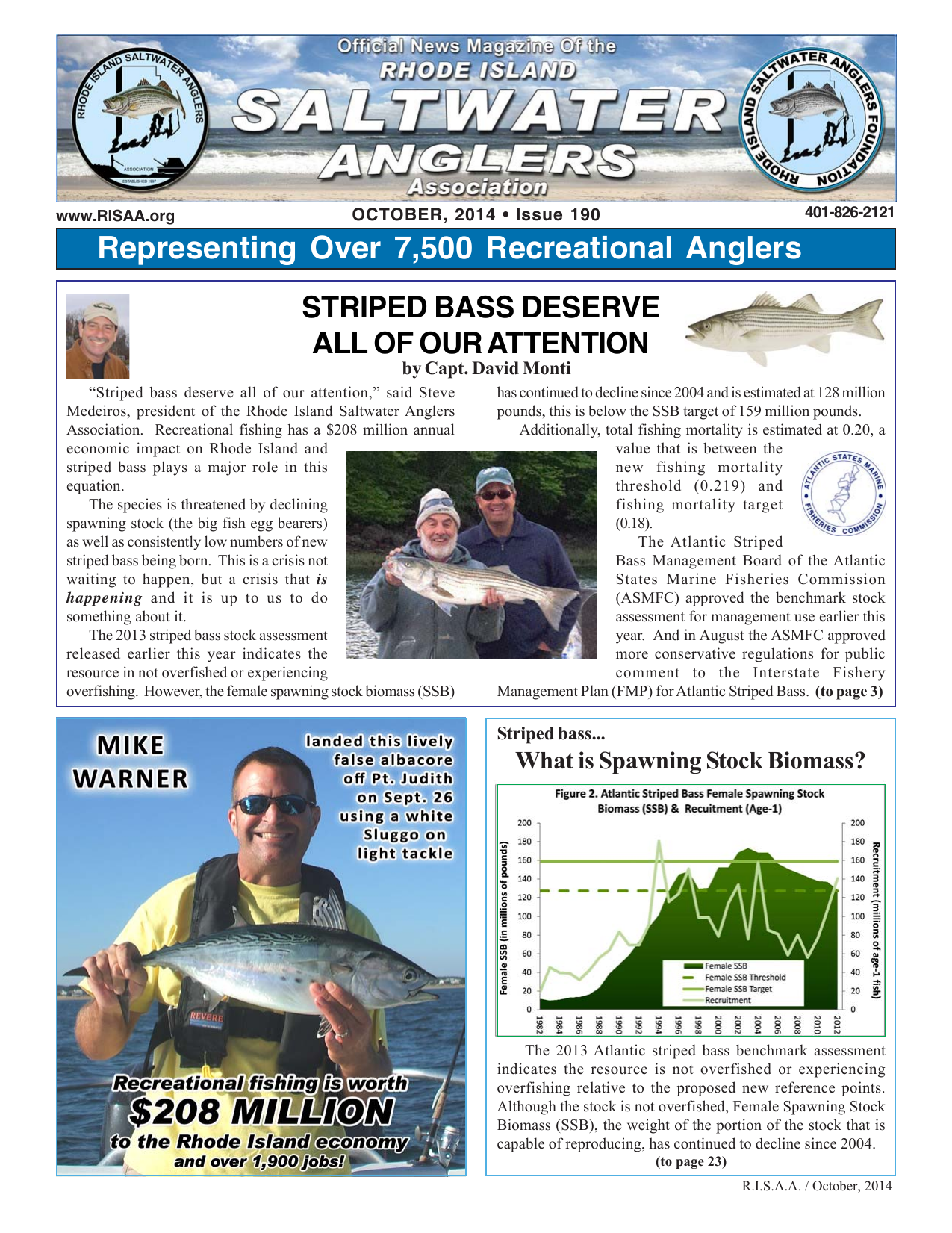 October - The Rhode Island Saltwater Anglers Association