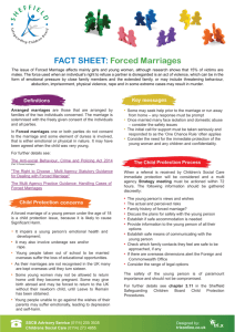 Forced Marriages - Sheffield Safeguarding Children Board Child