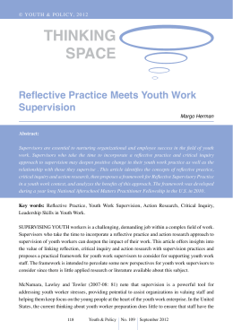 Reflective Practice Meets Youth Work Supervision