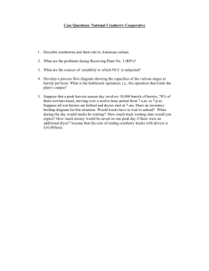 Case Questions: National Cranberry Cooperative 1. Describe