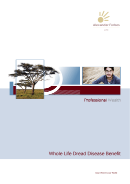 Whole Life Dread Disease Benefit