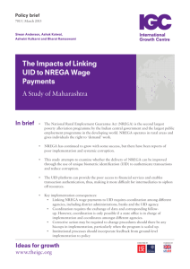 The Impacts of Linking UID to NREGA Wage Payments