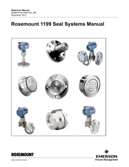 Rosemount 1199 Seal Systems Manual