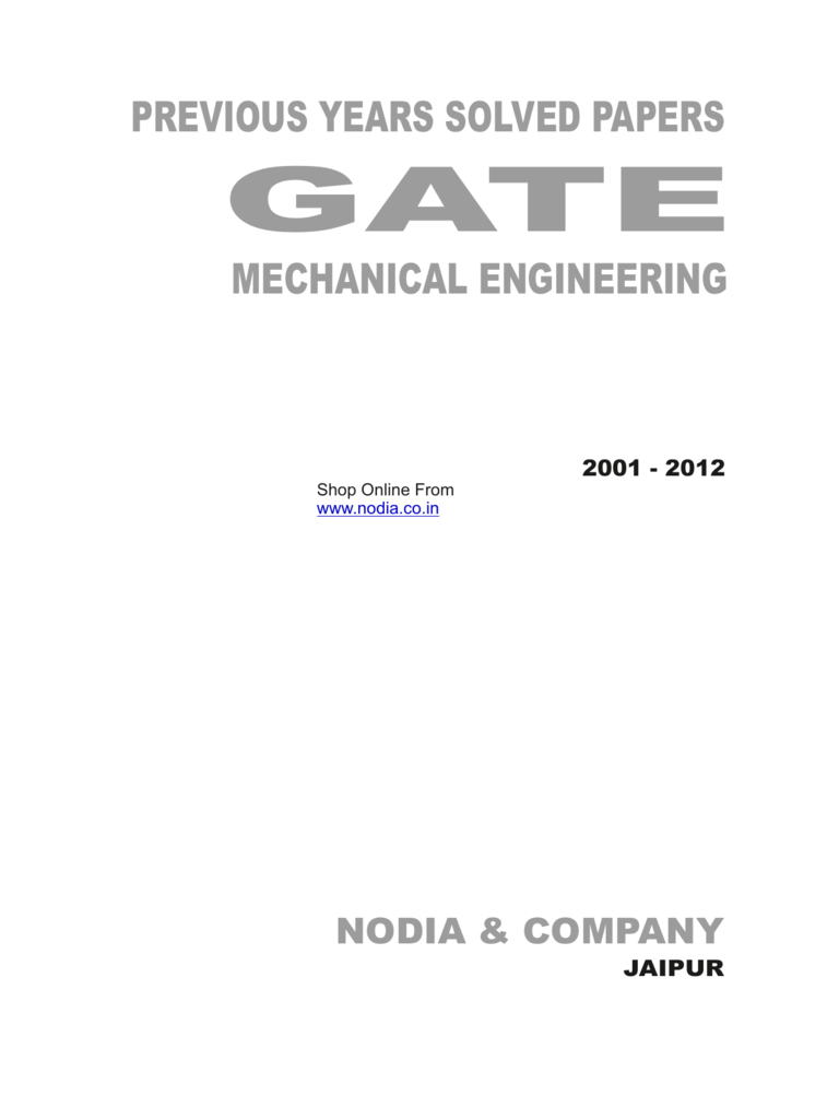 Mechanical Solved Paper Nodia 2001 Mg Zs Under The Dash Fuse Box Diagram