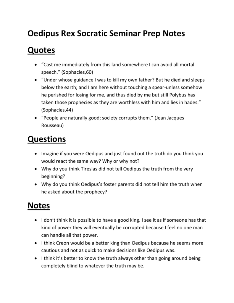 oedipus rex notes Free online study guide for oedipus rex/oedipus the king by sophocles-booknotes chapter free summary plot synopsis essay book report analysis.