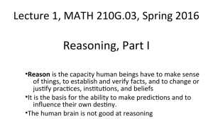 Reasoning - Mathematical Sciences Main Page