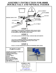 double salt and mineral feeder assembly instruction for