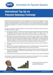International Top  Up via Payment Gateways Exchange