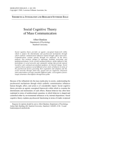 Social Cognitive Theory of Mass Communication