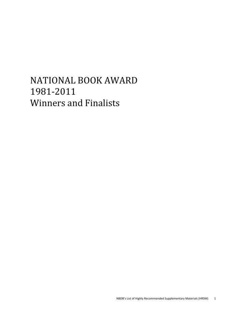 national book award - National Book Development Board