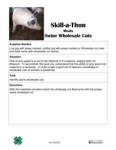 Skill-a-thon: Swine Wholesale Cuts Identification - Missouri 4-H