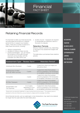 Retaining Financial Records
