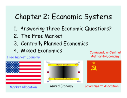 difference between free market and centrally planned economies