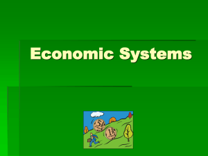 economic systems notes