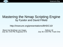 Mastering the Nmap Scripting Engine