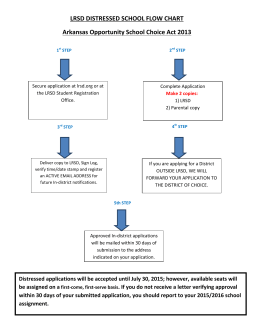 LRSD DISTRESSED SCHOOL FLOW CHART Arkansas Opportunity