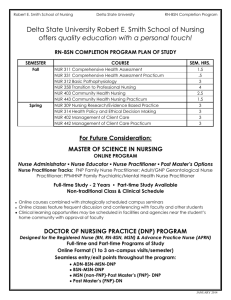 MASTER OF SCIENCE IN NURSING