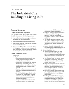 Chapter 18: The Industrial City: Building It, Living