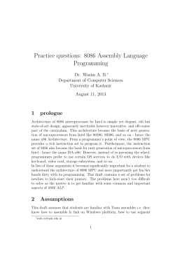 Practice questions: 8086 Assembly Language Programming
