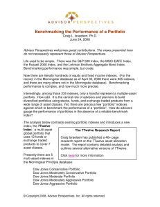 Benchmarking the Performance of a Portfolio