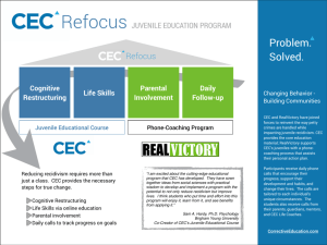 CEC Refocus - Corrective Education Company