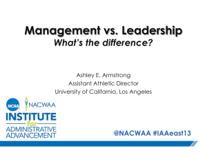 Leadership v. Management: What's the Difference?