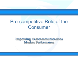 Pro-competitive Role of the Consumer