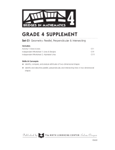 Grade 4 supplement - The Math Learning Center