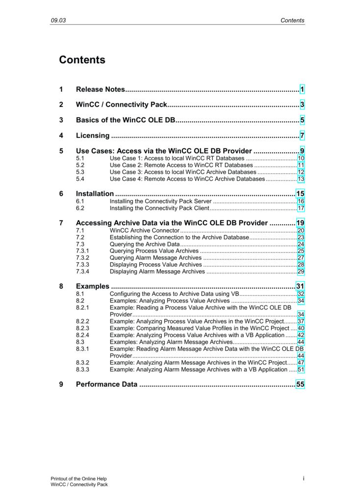 2 WinCC / Connectivity Pack